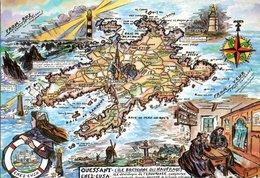 Ile D'ouessant Carte Geographique 1989 CPM Ou CPSM - France