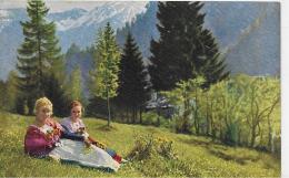 AK 0012  Oberammergau - Volkstrachten ( Frühling Und Winter ) / Verlag Uhlschmid Ca. Um 1920 - Oberammergau