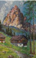 AK 0012  Jahn , E. - Langkofel In Den Dolomiten / Künstlerkarte Ca. Um 1920 - Peintures & Tableaux