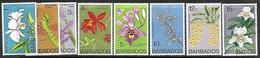 Barbados  1975    Sc#396b-404b      Flowers  Set  Watermark 373 To The 15c   MLH  2016 Scott Value $13.30 - Barbados (1966-...)