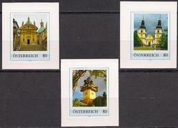 """Österreich: 3 PERSONALISIERTE / Personalized, Marken """"GRAZ Schloßberg & Basilika MARIATROST"""" Geringe Auflage / RARE, MNH - Österreich"""