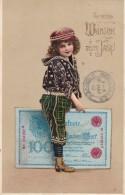 Carte Neuen Jahre Circulée En 1919 Et Postée Au Luxembourg - Nouvel An