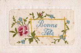 Carte N° 33 Brodée - Nouvel An