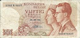Belgique Koninkrijk  Billet De 50 Francs - 1966 - [ 6] Staatskas