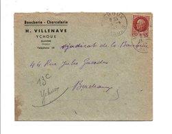 PETAIN SUR LETTRE A EN TETE DE YCHOUX LANDES 1942 - Marcophilie (Lettres)