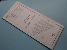 KAPELHOEK - HOOGSTADE 19/7-8 ( M834 ) Uitgave 2 Anno 1978 - Schaal / Echelle / Scale 1: 25.000 ( Zie Foto's ) ! - Mapas Geográficas