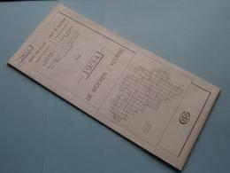 DE MOEREN - VEURNE 19/3-4 ( M834 ) Uitgave 2 Anno 1978 - Schaal / Echelle / Scale 1: 25.000 ( Zie Foto's ) ! - Geographical Maps
