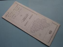 GELUVELD - MOORSELE 28/3-4 ( M834 ) Uitgave 2 Anno 1977 - Schaal / Echelle / Scale 1: 25.000 ( Zie Foto's ) ! - Cartes Géographiques