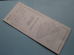 WERVIK - MENEN 28/7-8 ( M834 ) Uitgave 2 Anno 1977 - Schaal / Echelle / Scale 1: 25.000 ( Zie Foto's ) ! - Geographical Maps