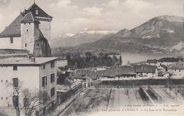 Cp , 74 , ANNECY , Vue Générale, Le Lac Et Le Parmelan - Annecy