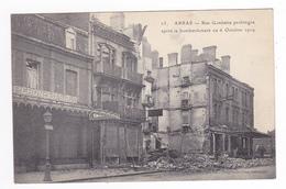 62 Arras N°25 Rue Gambetta Prolongée Tabac PERON BASSE Après Bombardement Du 6 Octobre 1914 VOIR DOS Tampon - Arras