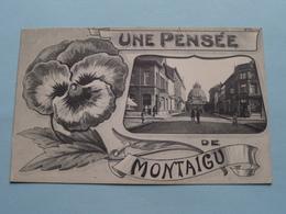 Une Pensée De MONTAIGU ( Stalmans-Adrians ) Anno 1913 ( Voir Photo ) ! - Scherpenheuvel-Zichem