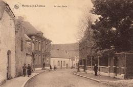 Merbes-le-Château  La Rue Haute Très Belle Carte Animée état Voir Scan. - Merbes-le-Château