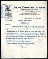 FACTURE OU LETTRE ANCIENNE  ETRANGERE DE  SICILE- 1919-  BELLE ILLUSTRATION- AIGLE - France
