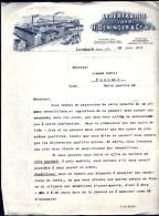 FACTURE OU LETTRE ANCIENNE  ETRANGERE DE LORSBACH- ALLEMAGNE - 1921-  BELLE ILLUSTRATION- USINES CHEMINÉES- TRAIN - Frankreich