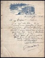 FACTURE OU LETTRE ANCIENNE  ETRANGERE DE BARCELONE- ESPAGNE- 1904-  BELLE ILLUSTRATION- HOTEL DE L'UNIVERS- ANIMATION - Frankreich