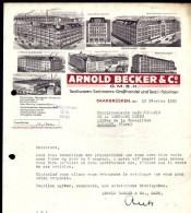 FACTURE OU LETTRE ANCIENNE  ETRANGERE DE SAARBRÜCKEN- ALLEMAGNE- 1950-  TRES BELLE ILLUSTRATION MULTI-VUES- 7 USINES - Frankreich