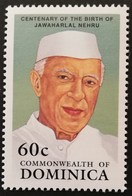 Dominica  1989 Centenary Of The Birth Of Jawaharlal Nehru - Dominica (1978-...)