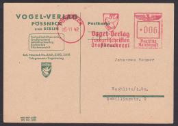 Pössneck  AFS =006= Vogel-Verlag Zeitschriften Großdruckerei 1942, Kte R. Riss - Deutschland
