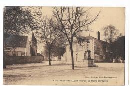 000479 Neuvy-Pailloux - La Mairie Et L' Eglise - France
