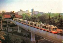 ! Ansichtskarte Phillipines, Philippinen, Metrorail Manila, Railway - Bahnhöfe Mit Zügen