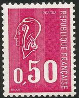 Marianne De Bequet - YT 1664b Neuf ** N° Rouge Au Dos - 1971-76 Maríanne De Béquet