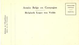 Belgique - Entier Postal Militaire - Armée Belge En Campagne, Belgisch Leger Ten Velde - Militaires (Timbres M)