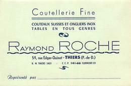 PUBLICITE , Coutellerie Fine R. Roche , THIERS , * 219 26 - Thiers