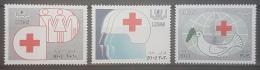 E1124Grp - Lebanon 1988 SG 1308-1310 Complete Set 3v. MNH - Red Cross - Lebanon
