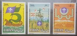 E1124Grp - Lebanon 1983 SG 1284-1286 Complete Set 3v. MNH - 75th Anniv Of Boy Scout Movement - Lebanon