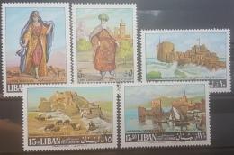 E1124Grp - Lebanon 1968 SG 1009-1013 Complete Set 5v. MNH - Emir Fakhreddine, PrincessKhaskiah & Castles, Citadels - Lebanon