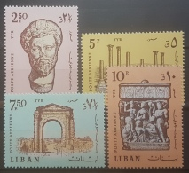 E1124Grp - Lebanon 1968 SG 1014-1017 Complete Set 4v. MNH - Tyre Antiquities, Romans & Phoenicians Ruins - Lebanon