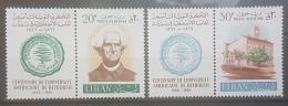 E1124Grp - Lebanon 1966 SG 951-952 Complete Set 2v. MNH - Centenary Of American University Of Beirut AUB - Lebanon