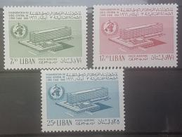 E1124Grp - Lebanon 1966 SG 930-932 Complete Set 3v. MNH - Iauguration Of World Health Organization Headquarters, Geneva - Libanon