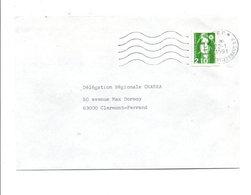 LETTRE DE CLERMONT FERRAND EN PORT PAYE...MAIS TIMBREE 1991 - Postmark Collection (Covers)