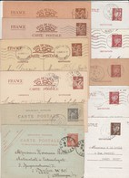 ENTIERS POSTAUX  - Trance   - Lot De 11 Cartes (à Voir 11 Scans) - Postal Stamped Stationery