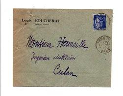 OBLITERATION MANUELLE DE VESDUN CHER 1938 - 1921-1960: Période Moderne