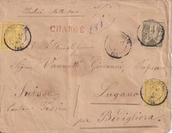 FRANCE 1884 LETTRE CHARGE DE ST.RAPHAEL POUR LUGANO - Marcophilie (Lettres)