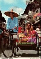 ! Ansichtskarte Singapur, Singapore, Trishaw Rider - Singapur