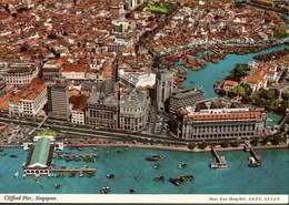 ! Ansichtskarte Singapur, Singapore, Clifford Pier, Luftbild, Aerial View - Singapur