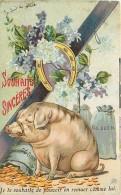 Animaux , Cochon , Carte Fantaisie  , * 224 80 - Maiali