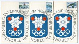 RC 9698 HAUTE VOLTA SERIE JEUX OLYMPIQUES DE GRENOBLE 1968 1er JOUR FDC TB - Obervolta (1958-1984)
