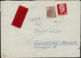 DDR Michel Nr.n 585 Und 848 Auf Eilsendung Exprès Brief Magdeburg Nach Rückseitiger Ankunftsstempel Düsseldorf, 2 Scans - Covers & Documents