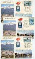 RC 9699 HAUTE VOLTA SERIE JEUX OLYMPIQUES DE GRENOBLE 1968 CARTE MAXIMUM 1er JOUR FDC TB - Obervolta (1958-1984)