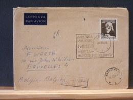 78/257  LETTRE  POLOGNE  1953 POUR LA BELG. - 1944-.... République