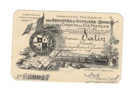 Carte ASSOCIATION Des Employés Du Chemin De Fer. - Chemin De Fer