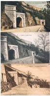 Lot De 3 CPA : NAMUR Citadelle Les Tunnels (colorisée Et N&B) Et Anciennes Fortifications  Côté Meuse - Namur