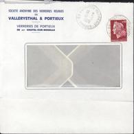 Agence Postale Dans Usine Verreries Vallérysthal YT 1536 B Marianne Cheffer CAD Portieux Verreries Vosges 10 3 1970 - Marcophilie (Lettres)