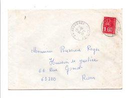 OBLITERATION MANUELLE DE AVOUDREY DOUBS 1976 - Marcofilie (Brieven)