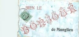 63 , Un Bonjour De MANGLIEU,  234 31 - Autres Communes